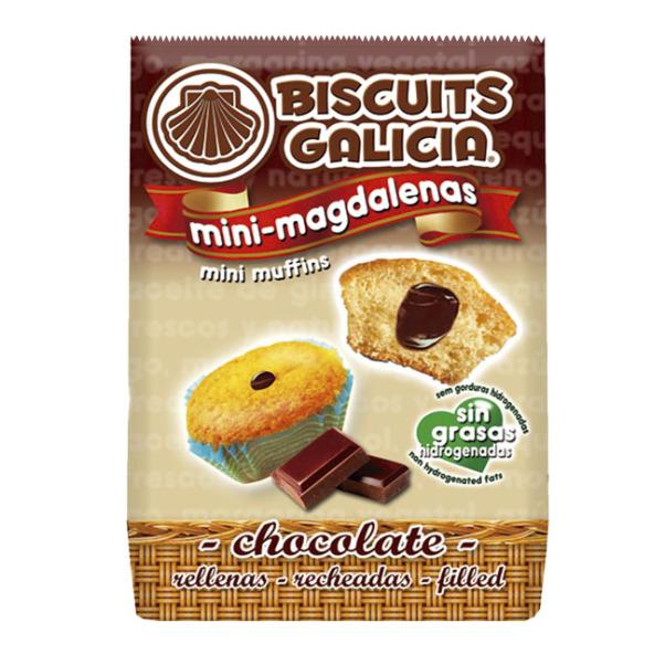mini magdalenas rellenas chocolate café merienda desayuno Biscuits Galicia