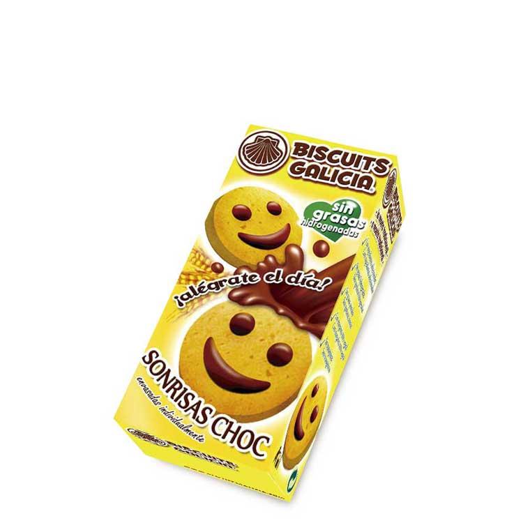 sonrisa chocolate envasada individualmente café merienda desayuno Biscuits Galicia
