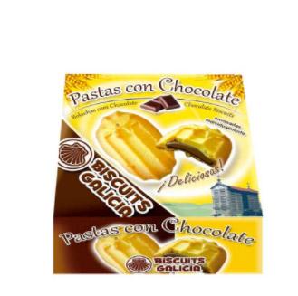 pastas de te rellenas de chocolate