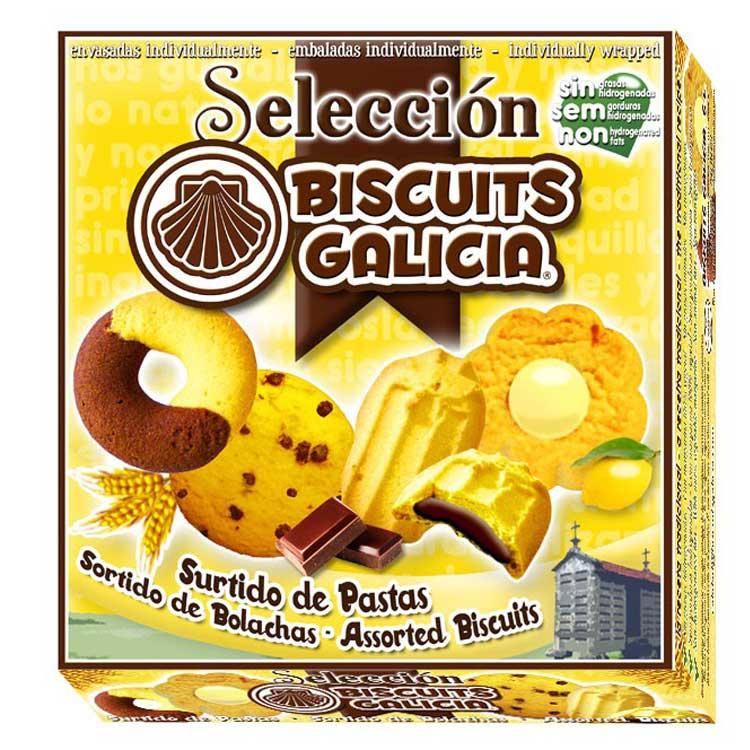 galleta envasada individualmente surtido café merienda desayuno chocolate Biscuits Galicia