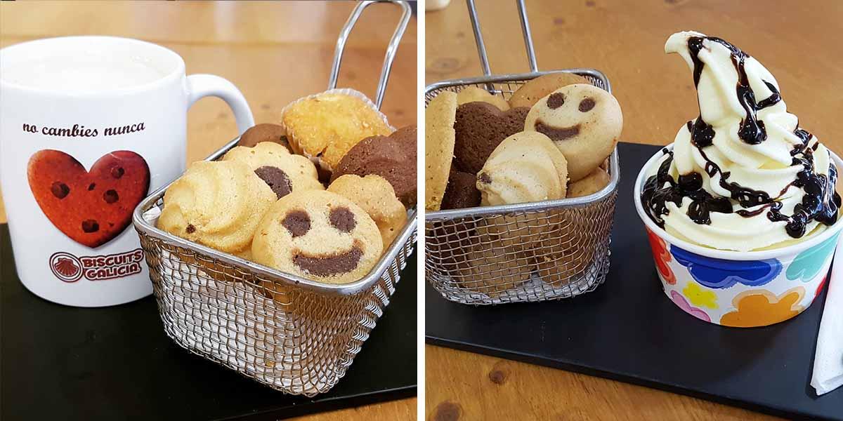 galleta envasada individualmente cortesía café hostelería cafetería merienda desayuno Biscuits Galicia buffet libre