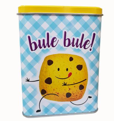 lata azul de galletas