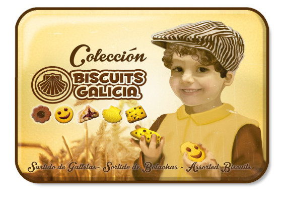 lata galleta chocolate envasada individualmente café merienda desayuno regalo Biscuits Galicia