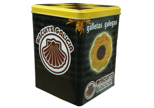 lata galleta chocolate envasada individualmente café merienda desayuno regalo Biscuits Galicia