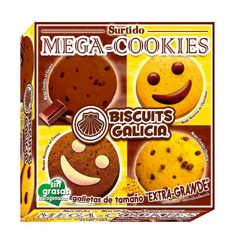 mega galleta envasada individualmente surtido café merienda desayuno chocolate Biscuits Galicia